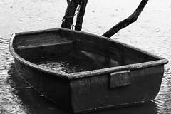almost gone... (Davide C.77) Tags: blackandwhite bw lake tree water rain canon island boat pond singapore asia outdoor bn palauubin