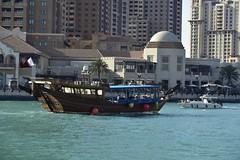 Traditional boat.  Qatar (Santiago Sanz Romero) Tags: santiago boat barco traditional ngc thepearl doha qatar sanz santiagosanzromero