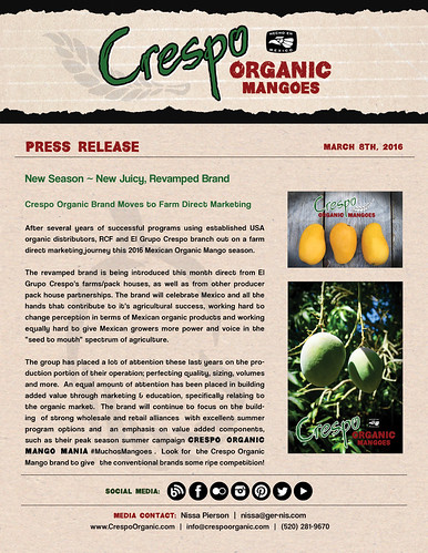 "Crespo Organic Mangoes ~ New Juicy, Revamped Brand!  PR03.08.16 • <a style=""font-size:0.8em;"" href=""http://www.flickr.com/photos/139081453@N03/25500044052/"" target=""_blank"">View on Flickr</a>"