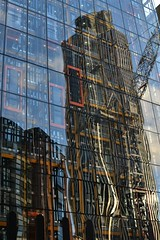 2016-01-28: Reflected Tower 42 (psyxjaw) Tags: reflection building london glass lunch office lunchtime worker tower42 cityoflondon leadenhall lifts londonist cheesgrater leadenhallbuilding