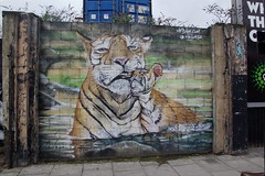 Tiger (OliveTruxi (1 Million views Thks!)) Tags: street city england streetart london art graffiti urbanart shiz londoncity cityoflondon artderue mrshiz artunderthehood