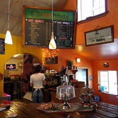 #coffeeshop inside a #colorful #house, it was this or Starbucks. #Weaverville #California (Heath & the B.L.T. boys) Tags: california house coffee sign dessert chalkboard instagram