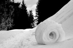 chamallows de neige (glookoom) Tags: blackandwhite bw black nature monochrome montagne noir noiretblanc bokeh contraste neige blanc bois chamrousse bouledeneige