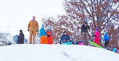 Winter memories (Larry the Biker) Tags: winter snow michigan hill romeo sledding february