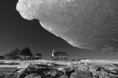 Port-au-Persil, vu du rivage (Patrice StG) Tags: blackandwhite bw ice noiretblanc gimp nb shore qubec stlawrence stlaurent charlevoix glace rivage d700