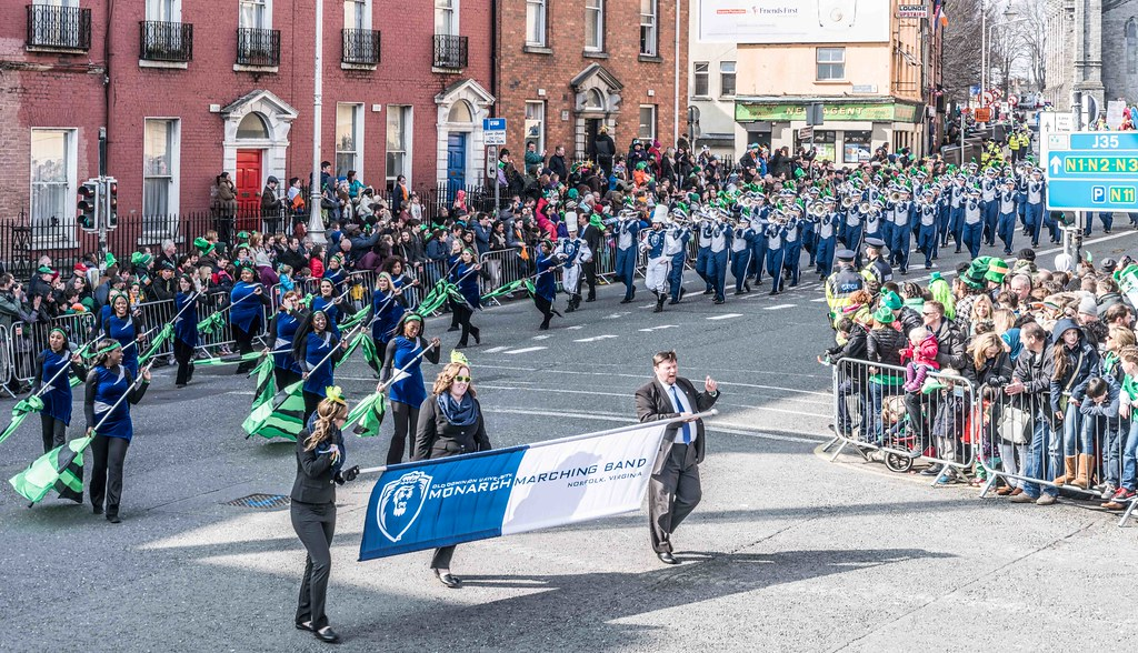 THE OLD DOMINION UNIVERSITY MONARCH MARCHING BAND [ST. PATRICK'S PARADE 2016]-112625