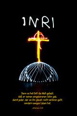 Jesus lebt (Stefanie Zehfuss) Tags: jesus kreuz inri ostern lichtmalerei auferstehung lightdome