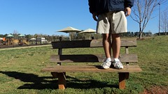 Va Du Bench Monday (pikespice) Tags: headless bench geotagged widescreen boilingsprings geotag decapitated hbm 10millionphotos mcmillanpark benchmonday vadumarmcmillanpark vadumarpark