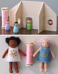 Tiny Waldorf Toys for Adori (Jay Bird Finnigan) Tags: house miniature doll waldorf mini felt tiny peg dollhouse