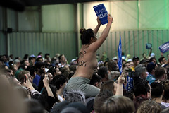 Bernie Sanders supporter (Gage Skidmore) Tags: arizona phoenix fairgrounds vermont state senator president topless bernie campaign primary sanders 2016
