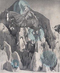 leaping the void (kurberry) Tags: mountains collage leap cutpaste cutandpaste horsebackrider vintageephemera collageaday jumpinghorse