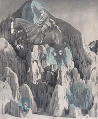 leaping the void (kurberry) Tags: mountains collage leap cutpaste cutandpaste horsebackrider vintageephemera collageaday jumpinghorse
