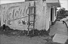 Somewhere in Hidalgo... (f/ames) Tags: bw abandoned beer mexico blackwhite victoria remote canon5d ladder backroads cantina gringo hidalgo mkii