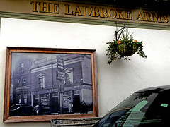 Ladbroke Arms (Draopsnai) Tags: wall pub photograph nottinghill pubsign kensingtonandchelsea ladbrokearms ladbrokeroad
