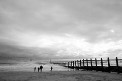 Out for a stroll on 1st April (rmrayner) Tags: sea people seascape beach seaside waves silhouettes shore figures groyne nessie aprilfools hss sliderssunday dawlishwarrenbeachwildlife