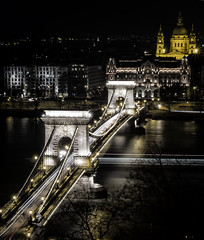 Chain Bridge / Budapest (ercan.cetin) Tags: longexposure nightphotography travel bridge travelling night landscape hungary nightlights nacht budapest chain langebelichtung niftyfifty hungarn