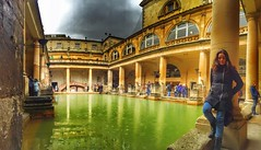 Bath Roman World Heritage EyeEm Best Shots Old Buildings Panorama Portrait Of A Woman at The Roman Baths (Dari_Extension) Tags: panorama bath roman oldbuildings worldheritage portraitofawoman eyeembestshots
