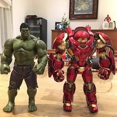 China Hulk is same tall as Japanese Hulk Buster (Alfred Life) Tags: toy hulk  hulkbuster