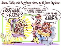 Piro-Grillo (Moise-Creativo Galattico) Tags: vignette satira fuoco raggi attualit moise giornalismo grillo editoriali moiseditoriali editorialiafumetti