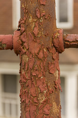 Layers (rumimume) Tags: old red ontario canada canon fence photo still rust sigma niagara chipped picoftheday 2016 550d peelingmetal t2i rumimume