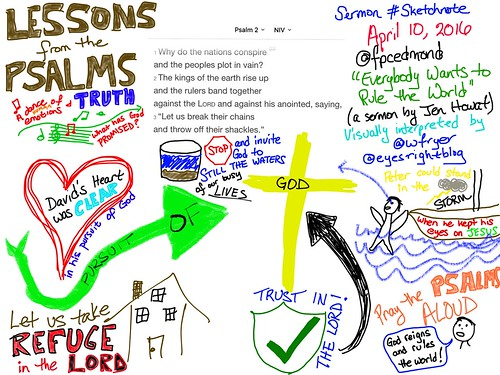 Psalm 2 Sketchnote: Remember The Lord Re by Wesley Fryer, on Flickr