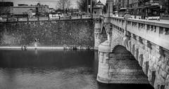 Bridge over the Radbuza (Tristan Durand) Tags: bridge white black texture water monochrome architecture river blackwhite republic fuji czech fujifilm plzen plze xe2s