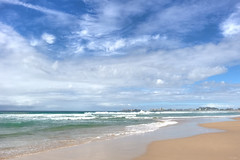 Pastel Beach (satochappy) Tags: blue sand qld queensland goldcoast