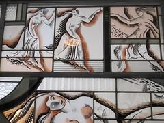 Vitrail Psych (1933), dtail, Louis Barillet - Demeure du matre verrier Louis Barillet, aujourd'hui muse Mendjisky, 15 square de Vergennes, Paris XVe (Yvette Gauthier) Tags: paris muse vitrail paris15 psych verrier atelierdartiste louisbarillet demeuredelesprit musemendjisky