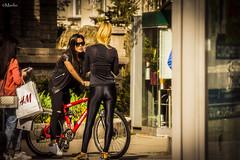 - Sofia (Manlio'77) Tags: girls people woman hot cute beautiful lady shiny pants legs sofia sensual bulgaria bycicle leggins shinypants