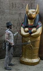 """Indiana Jones in """"The House Of Anubis"""" (Pooh's World) Tags: harrisonford indianajones sideshow anubis sideshowcollectibles templeofdoom"""