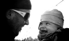 Father and son in LOVE (Sebastian Schmeinck) Tags: blackandwhite baby white black art monochrome dark familie intimate blick liebe heartfelt vater sohn innig