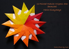 Model: 12 Pointed Modular Origami Star (Nr 1) (esli24) Tags: origami origamistar papierfalten mariasinayskaya origamistern esli24 ilsez 12pointedmodularorigamistar
