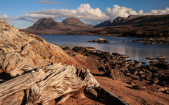 Driftwood (Davescunningplan) Tags: mountains water landscape scotland scenery filter loch ullapool assynt