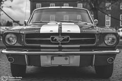 Ford Mustang beim Season Opening im Lenkwerk (thendele) Tags: auto cars ford car blackwhite autoshow oldtimer sw autos mustang fordmustang bielefeld bnw musclecar youngtimer seasonopening schwarzweis lenkwerk