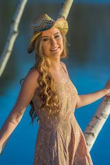 Jaclyn (jlucierphoto) Tags: portrait woman hot cute sexy girl beautiful hat portraits dress country lovelyflickr