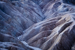 Quiet Valley at Dawn (lycheng99) Tags: blue color nature sunrise landscape dawn nationalpark rocks quiet hiking ngc hike valley deathvalley hikingtrail rockformation deathvalleynationalpark dawncolors 2016deathvalley