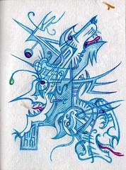 Pick Your Partner (darksaga66) Tags: werewolf vampire doodle goblin penandink inkart bookofink