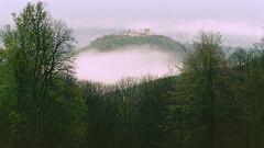 Medvedgrad in the evening fog (ir0ncevic) Tags: castle film analog 50mm spring kodak iso400 mound f4 medvednica medvedgrad kodakultramax400