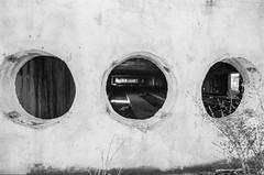 1,2,3 (Eyes) (DomiKetu) Tags: urban blackandwhite bw black building film monochrome 35mm mono blackwhite eyes nikon fuji f100 neopan analogue expired neopan1600 800 urbex xtol selfdeveloped homemadesoup blackwhitephotos instantmytol