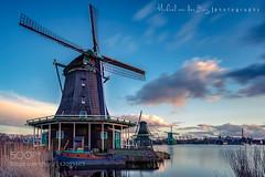 """""""De Kat"""" (l3v1k) Tags: city travel blue sunset sky sun holland water netherlands windmill amsterdam architecture clouds river de kat north windmills zaanse schans zaanstad 500px wbpa verfmolen paintmill stadsregio bestofmarch ifttt"""