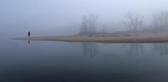 Au bout du Monde (Thierry.Vaye) Tags: reflection sable bleu bourgogne plage reflets brume fleuve nivre laloire