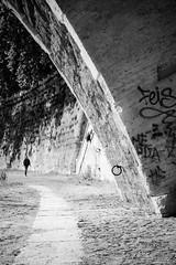 I remember I could forget (lorenzoviolone) Tags: bridge blackandwhite bw italy roma monochrome blackwhite reflex nikon path streetphotography stranger ring streetphoto dslr lazio agfascala200 vsco d5200 nikkor18105mm streetphotobw nikond5200 vscofilm walk:rome=april2016