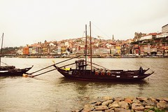How time goes fast... (catarinae) Tags: world from travel heritage home portugal river boats happy alone all centre historic we unesco porto douro and were but far