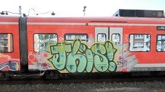 Graffiti (Honig&Teer) Tags: railroad streetart train germany graffiti steel bahnhof db urbanart vandalism deutschebahn sbahn hbf treno bombing aerosolart spraycanart hildesheim traingraffiti trainart railroadgraffiti dbregio honigteer