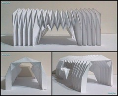 Paper Barrel Vault Architecture Origami Folding V4 (NeoSpica / NeoLiveArt) Tags: roof art geometric architecture paper artwork origami handmade drawing decorative patterns side barrel craft accordion structure homemade pavilion vault fold decor parallel tessellation corrugated folding pleated entrances miura pleating rigid waterbomb parametric collapsible pleat paperfold miuraori papersculptures rigidfoldable corrugationfold