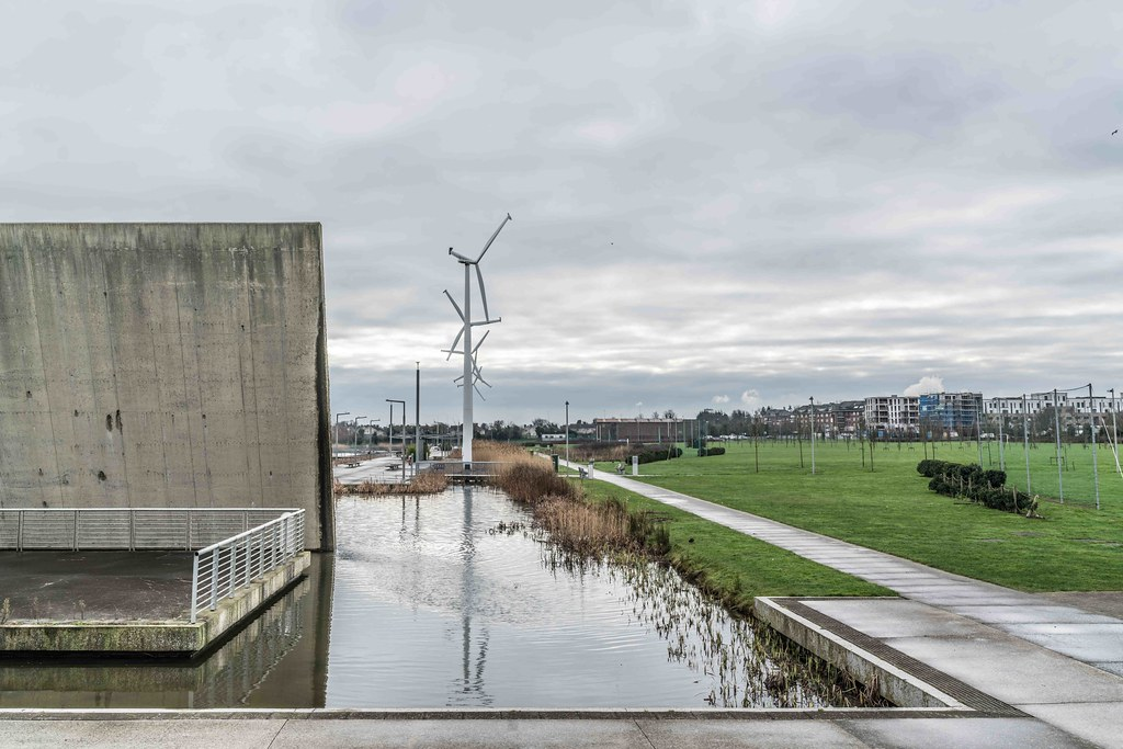 Wind Powered Public Park In Clongriffin Dublin [Father Collins Park]-110984