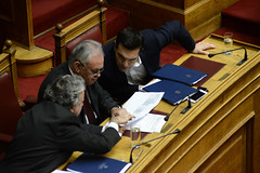 greecePoliticsParliament (X-Andra) Tags: alexis greek prime europe labor politics parliament social security athens greece member pm debate minister giorgos pension alternate giannis austerity syriza tsipras pensioncuts dragasakis katrougalos insurancepolitician
