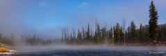 Misty Morning (craig goettsch) Tags: blue autumn trees mist nature fog landscape ngc wyoming lewisriver yellowstone2015
