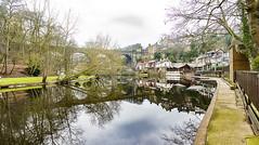 Knaresborough, North Yorkshire (Kingsley_Allison) Tags: river nidd reflections panorama knaresborough yorkshire northyorkshire landscape seatedman westerdale castletonrigg northyorkshiremoors statue seanhenry nikon nikond7200 d7200 uk