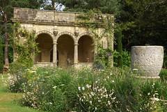 sunken garden (singinghedgehog) Tags: urn garden italian marble sunken byzantine loggia gaura nymans istrian nymansnt